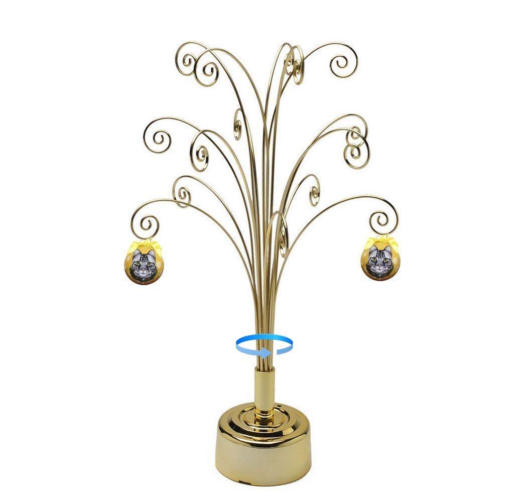 HOHIYA Metal Ornament Tree Stand Display Rotating ...