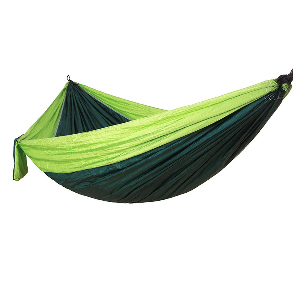xhhwzb Outfitters Hammock for Camping – Single & Double Hammocks Gear for the Outdoorsバックサバイバルまたは旅行 – ポータブル軽量パラシュートナイロン多くの色  グリーン B07FHYS1DG