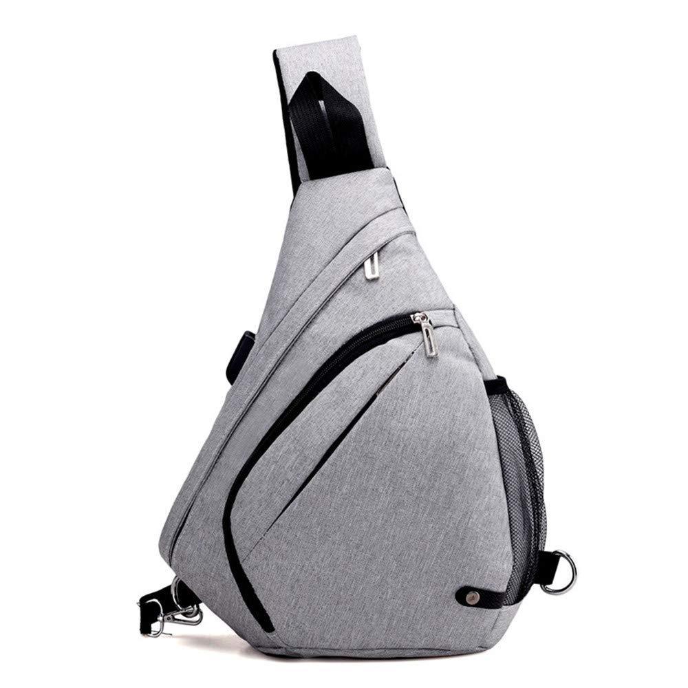Sommer große Kapazität Brusttasche Männer hochwertige Stoff Schulter Dreieck Tasche Tasche Tasche Drop Bag zur Erhöhung der Brusttasche, dunkelgrau B07L95ZRWZ Daypacks Mode dynamisch d50e86