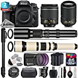 Holiday Saving Bundle for D7500 DSLR Camera + 650-1300mm Telephoto Lens + 55-200mm VR II Lens + AF-P 18-55mm + 500mm Telephoto Lens + 2yr Extended Warranty + 32GB Class 10 - International Version