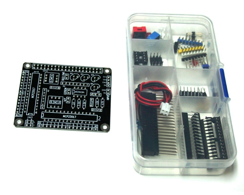 Raspberry Pi HAT - 32 I/O Port Expander - MCP23017 - I2C - Black - Kit Edition Nation Electronics Inc HAT32IOPE