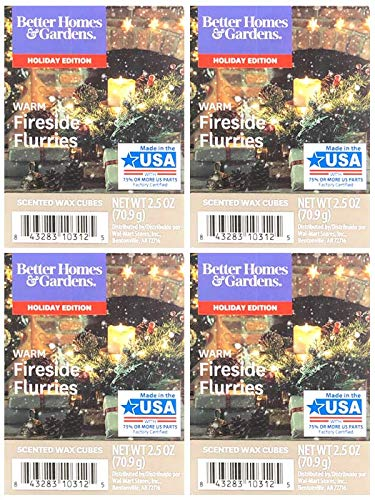 Better Homes and Gardens Warm Fireside Flurries Scented Wax Cubes - 4-Pack from Generic
