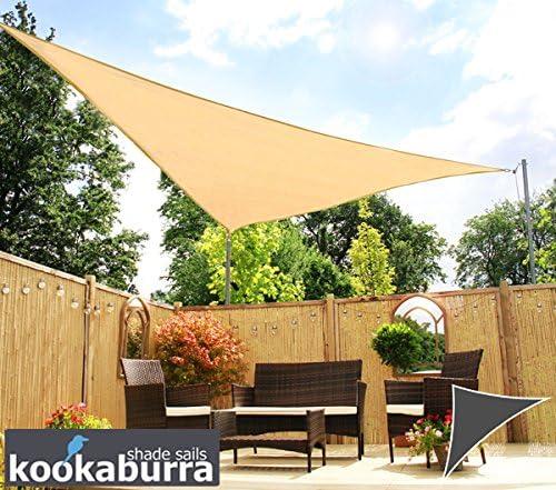 Kookaburra Toldo Vela de Sombra Para Jardín - Transpirable - 6m x 4.2m Triangular Arena: Amazon.es: Jardín