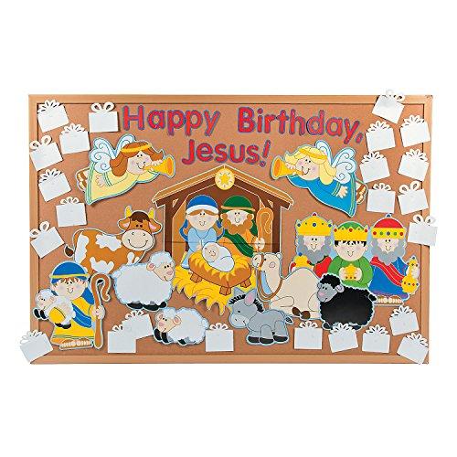 "DIY ""Happy Birthday, Jesus"" Bulletin Board Set"