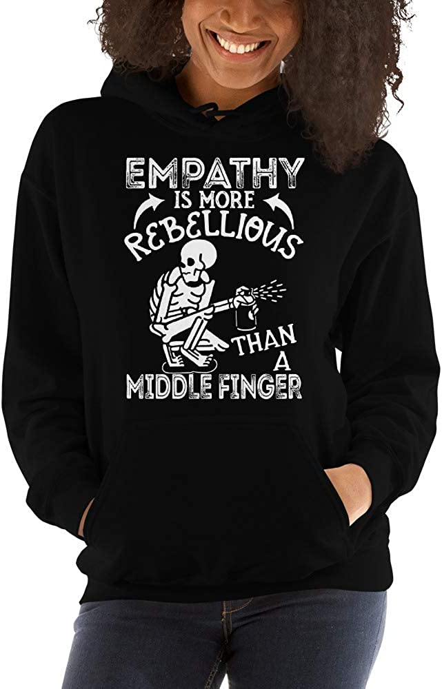 TEEPOMY Empathy is More Rebellious Than A Middle Finger Unisex Hoodie