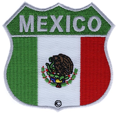 Mexico Shield Flag Patch 2.75 inch Patch IVAN1331