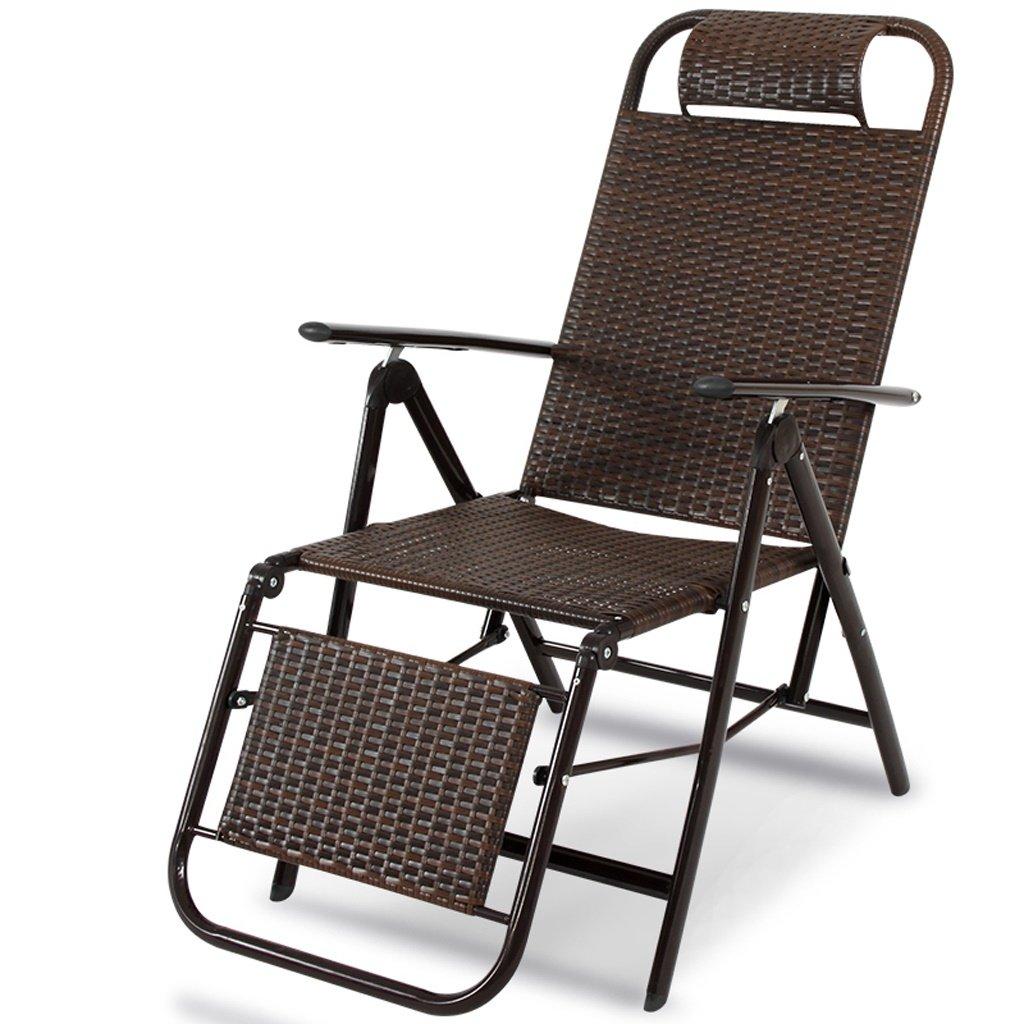 AJZXHESimple et créatif Chaise Longue en rougein, Chaise Pliante Ancienne, Chaise de Loisirs, Chaise Longue, Strong bearing marron -