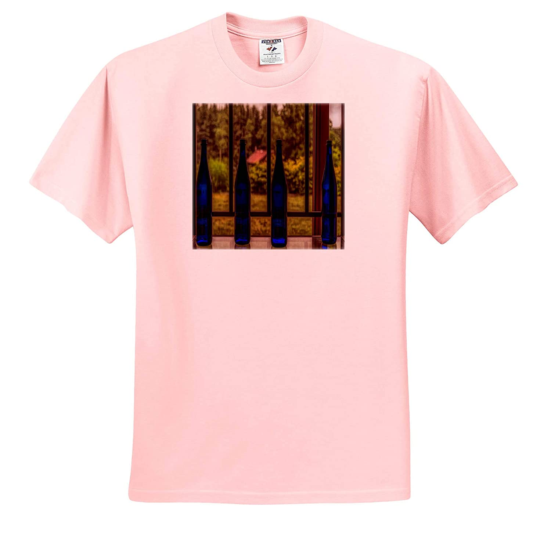 Blue Bottles 3dRose Roni Chastain Photography T-Shirts