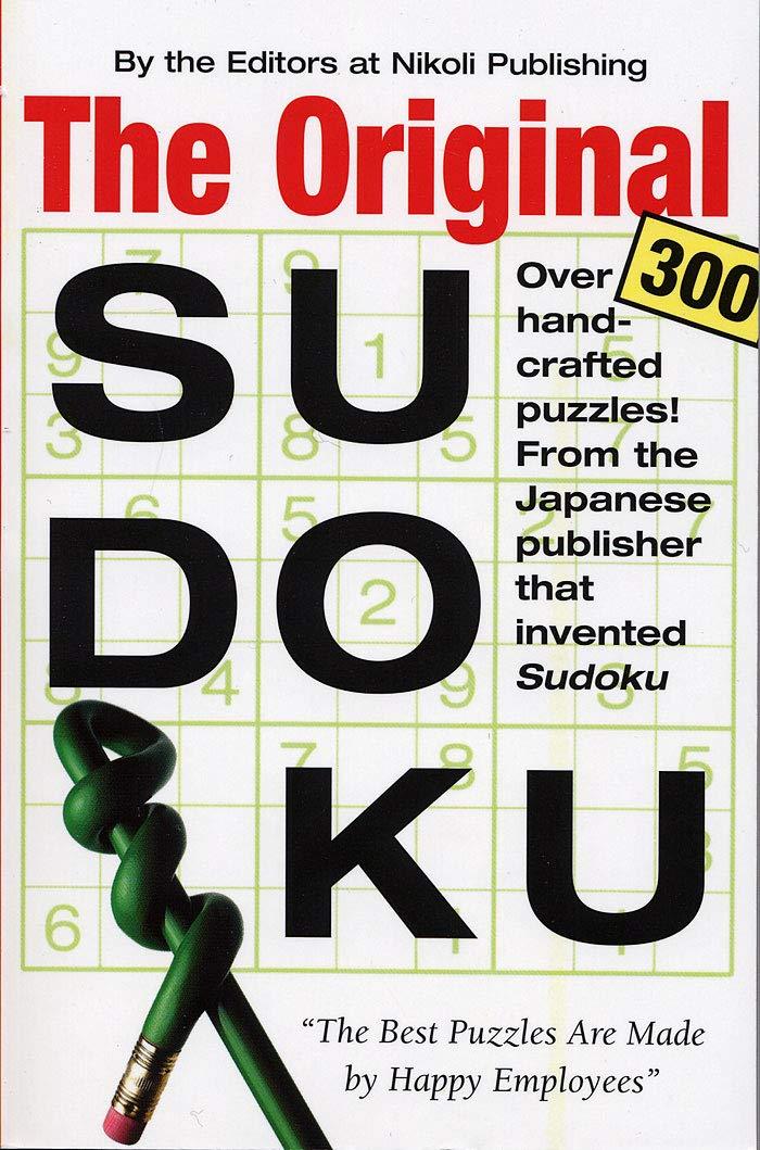 Original Sudoku: Editors of Nikoli Publishing: 0019628142153: Amazon.com: Books