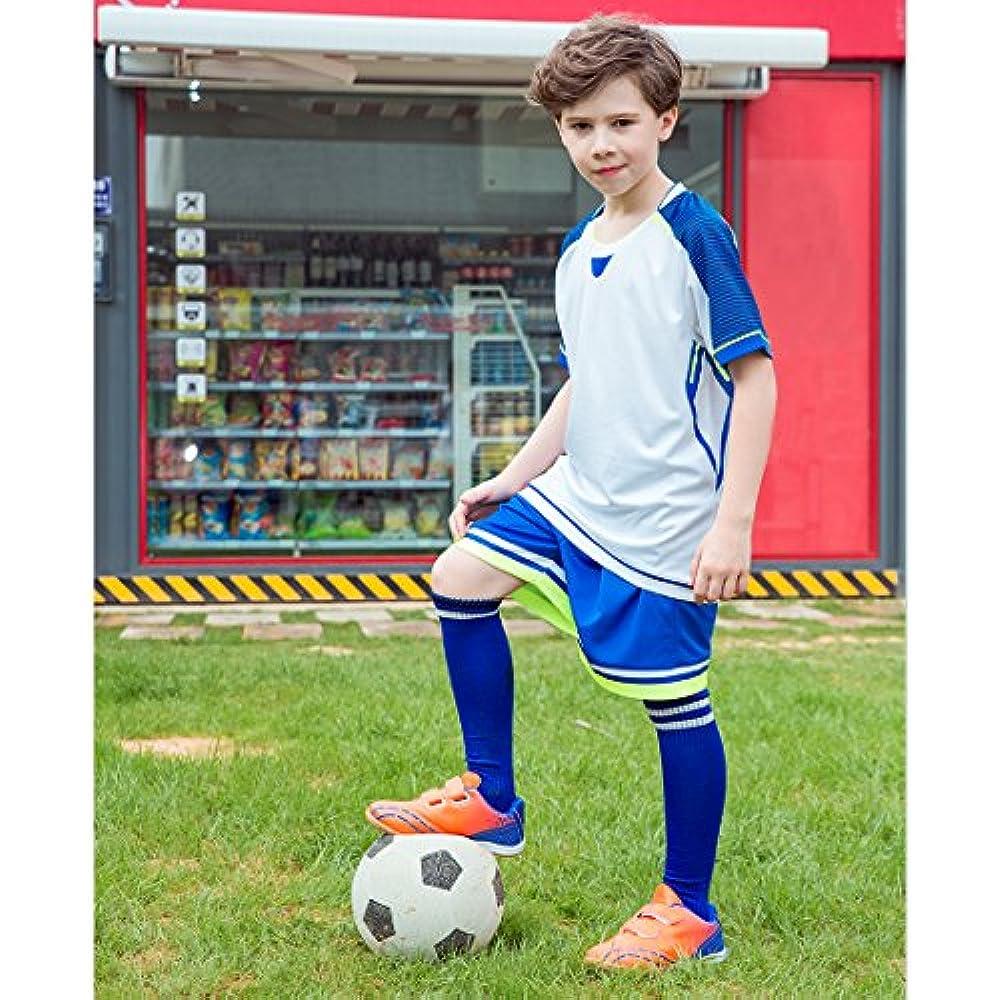 8b61457dfa34 Hawkwell Comfortable Soccer Shoes(Toddler/Little Kid/Big Kid), Green PU, 10  M US Soccer
