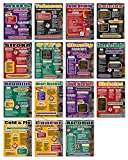 Health & Wellness Set of 15 EXTRA LARGE Laminated Posters Covering Issues of Health, Addiction, Disorders, and Wellness