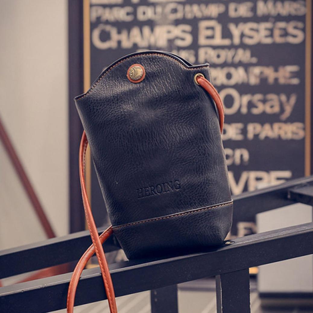 Clearance Deals Women Handbag Shoulder Bag, TOOPOOT Lady Small Body Bags Tote Shoulder Messenger Bag (Black) by TOOPOOT (Image #3)