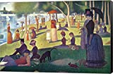 Sunday Afternoon on the Island of La Grande Jatte by Georges Seurat Canvas Art Wall Picture, Museum Wrapped with Black Sides and sold by Great Art Now, size 33x22 inches. This canvas artwork is popular in our People Art, Impressionist Art, Post Impre...
