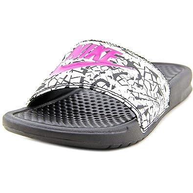 048043699 Nike Womens Benassi JDI Print Slide Sandal (Size 6) 618919 061