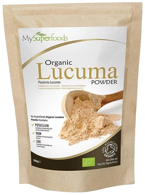 Polvo Orgánico De Lúcuma (500g)/ MySuperFoods / Fruto proveniente de Perú con un