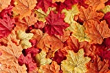 CraftMore Fall Leaves Value Pack - 144 Leaves in Vivid Fall Colors - Red, Orange, and Yellow - Perfect Fall Decoration or Table Scatter