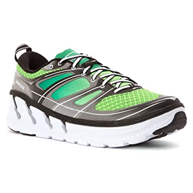 Hoka One Men's Conquest 2 Green Flash/Silver Ankle-High Running Shoe - 7M