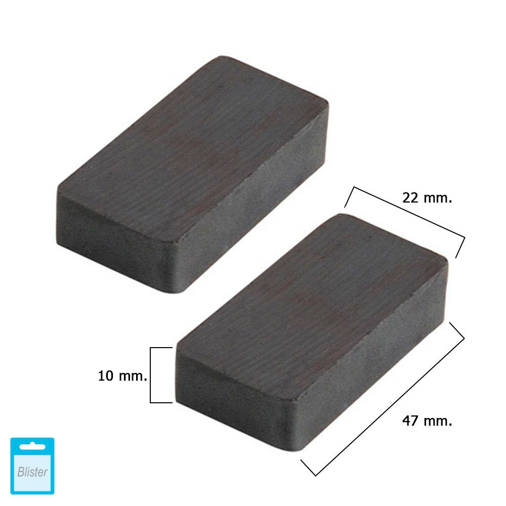 Wolfpack 5411130 Aimant ferrite rectangulaire 45 x 20 x 8 mm (Blister 2 Piè ces) A Forged Tool