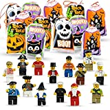 20 Halloween Trick Or Treat Bags with Mini Toy Figure Toys, Colorful Novelty Assortment For Kids Party Favors and Filled School Prizes Giveaways