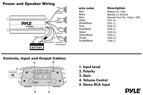 Speaker System Diagrams Likewise Pyle Marine 4 Channel Diagram ... on