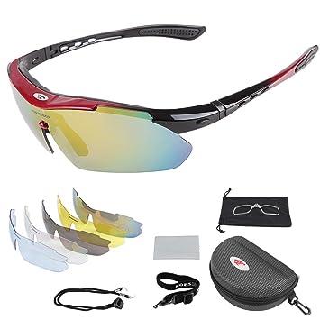 Gafas de Ciclismo, Gafas de Sol Deportivas polarizadas al Aire Libre Meiwo con 5 Lentes