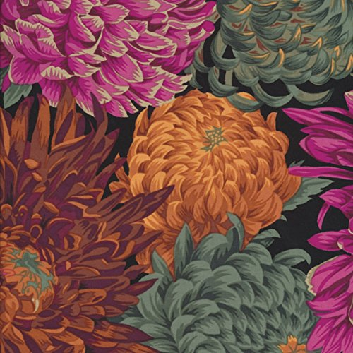 Philip Jacobs PJ41 Japanese Chrysanthemum Red Cotton Fabric By The Yard