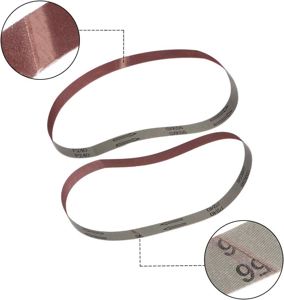 Cinta Lijado 80 Granos Aluminio /Óxido 12pcs 25mm X 770mm sourcing map 1-Pulg X 30-Pulg