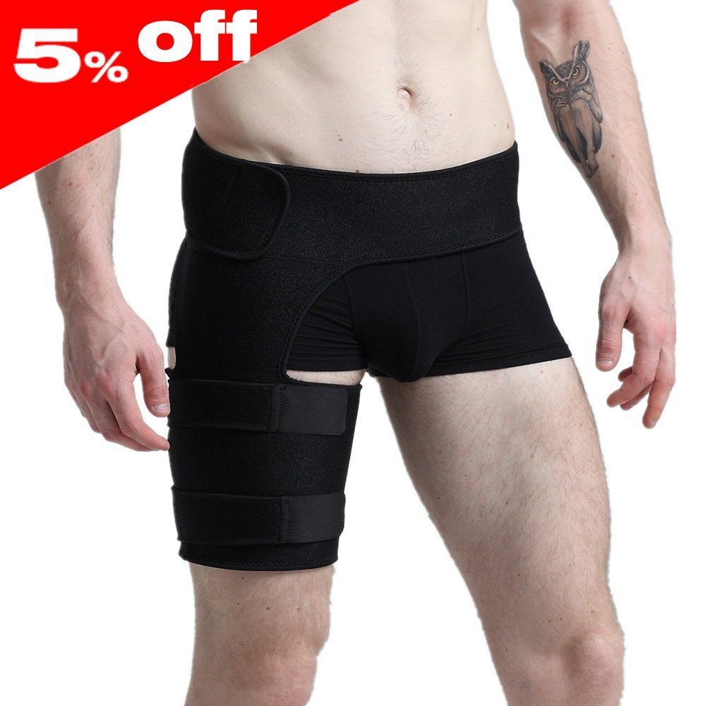Compression Wrap for Groin Hip Thigh Quad Hamstring Joints Sciatica Nerve Pain Relief Strap