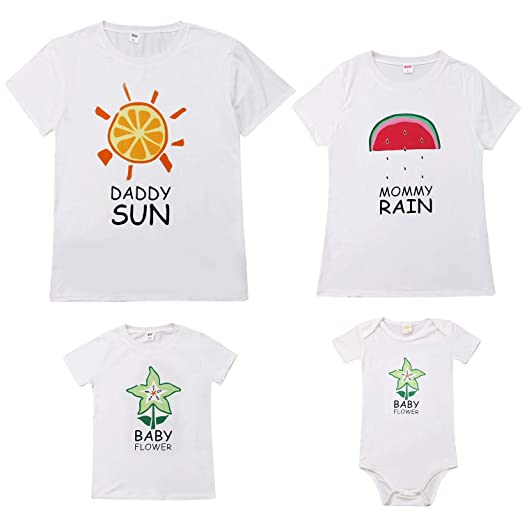 52ec8229 Amazon.com: Mommy and Me, Mother and Son Matching Crown Letter Print ...