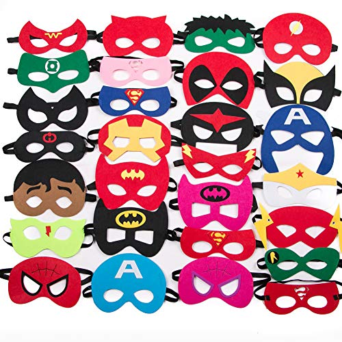 Birthday Supplies For Kids (Party Supply Cartoon Hero Mask Masquerade Mask Birthday Gift Children Cosplay Felt Mask Party for Kids (28)