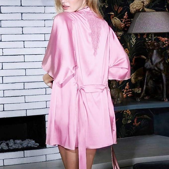 Le Ragazze Personalizzato Vestaglia Rosa//Crema