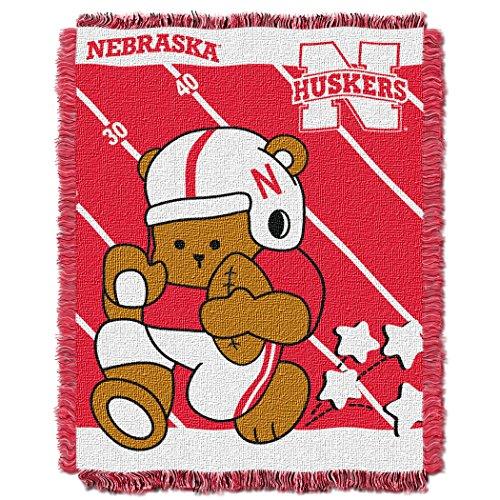 - The Northwest Company Officially Licensed NCAA Nebraska Cornhuskers Fullback Woven Jacquard Baby Throw Blanket, 36