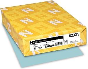 Neenah Paper Wausau Vellum Bristol Cardstock, 67 lb, 8.5 x 11 Inches, Pastel Blue, 250 Sheets (82321)
