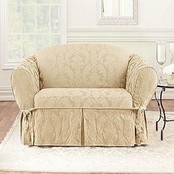 Amazon Com Surefit Matelasse Damask Sofa Cover Home Kitchen
