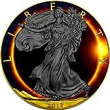 2017 United States Modern Commemorative TOTAL SOLAR ECLIPSE Eagle Walking Liberty 1 Oz Silver Coin 1$ US Mint 2017 BU Brilliant Uncirculated