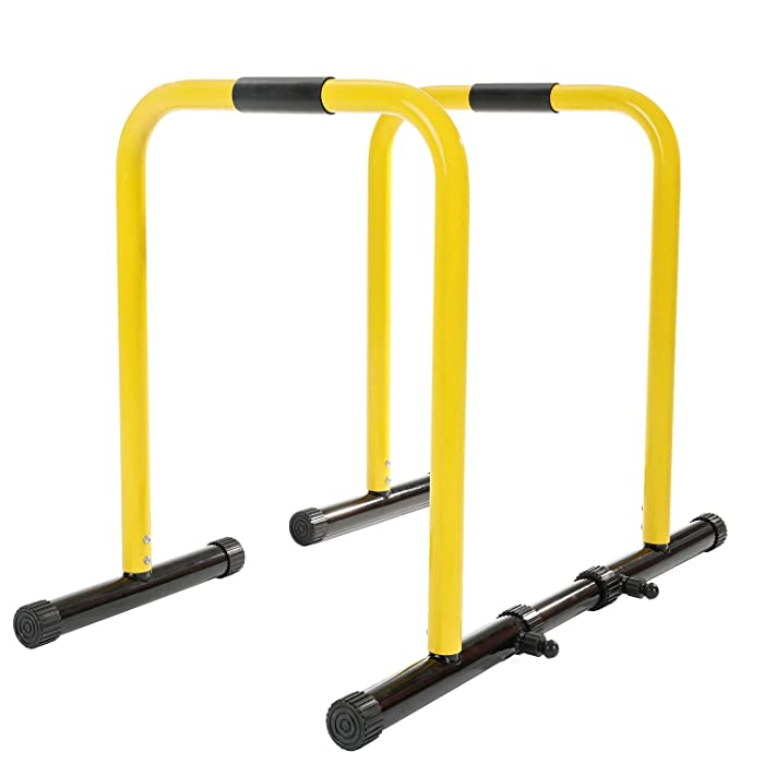 RELIFE REBUILD YOUR LIFE Dip Station Functional Heavy Duty Dip Stands Fitness Workout Dip bar Station Stabilizer Parallette Push Up Stand
