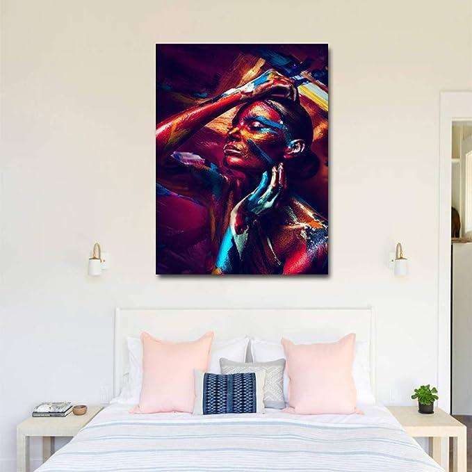 RTCKF Clásico Audrey Hepburn Retrato Maquillaje Cartel Moderno Lienzo Pintura clásico Personaje Retrato Pared Arte Dormitorio decoración del hogar Pintura de la Pared (sin Marco) A4 30x40 CM: Amazon.es: Hogar