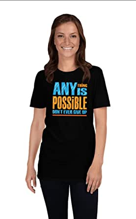 Art Gallery Misr Any Thing Is Possible - Don't Give Up Black T-Shirt