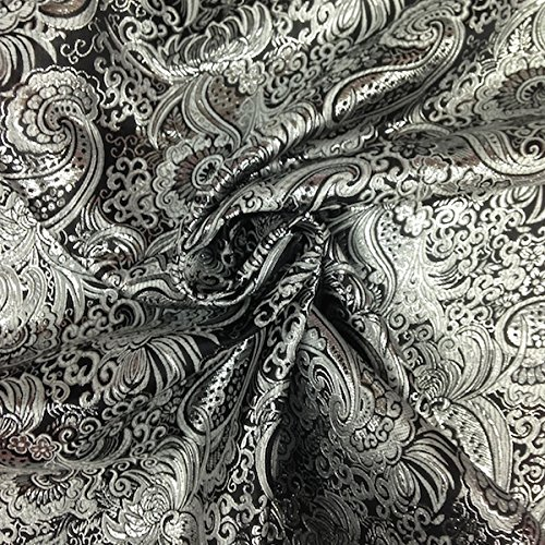Black White Paisley Fabric - 4
