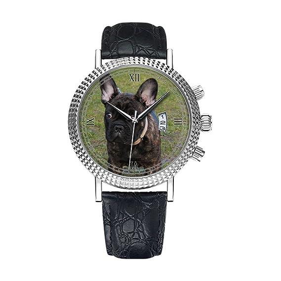 Reloj de pulsera analógico de cuarzo con calendario, fecha fina ...