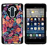 MINITURTLE Case Compatible w/ LG G Stylo Phone Case, Silicome and PC SHOCK Impact Stand Case w/ Dazzling Designs for LG G Stylo LS770, H631, MS631, LG G4 Stylus Floral Dream