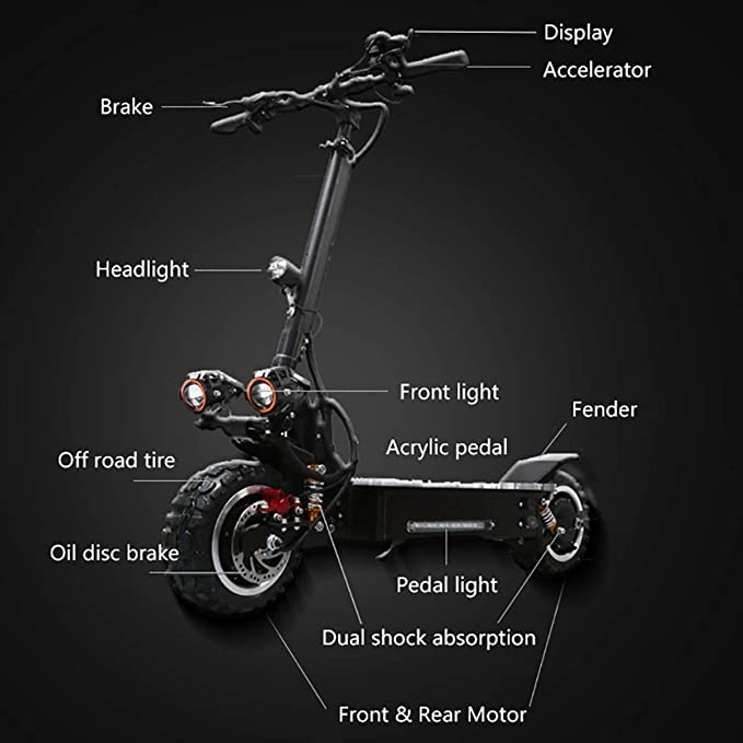 Amazon.com: ZMJJ Electric Scooter,Electric Scooter Adult ...