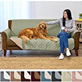 Home Fashion Designs Deluxe Reversible Quilted Furniture Protector and PET PROTECTOR. Two Fresh Looks in One. Perfect for Families with Pets and Kids. By Brand. (Sofa/Couch, Tea Green)