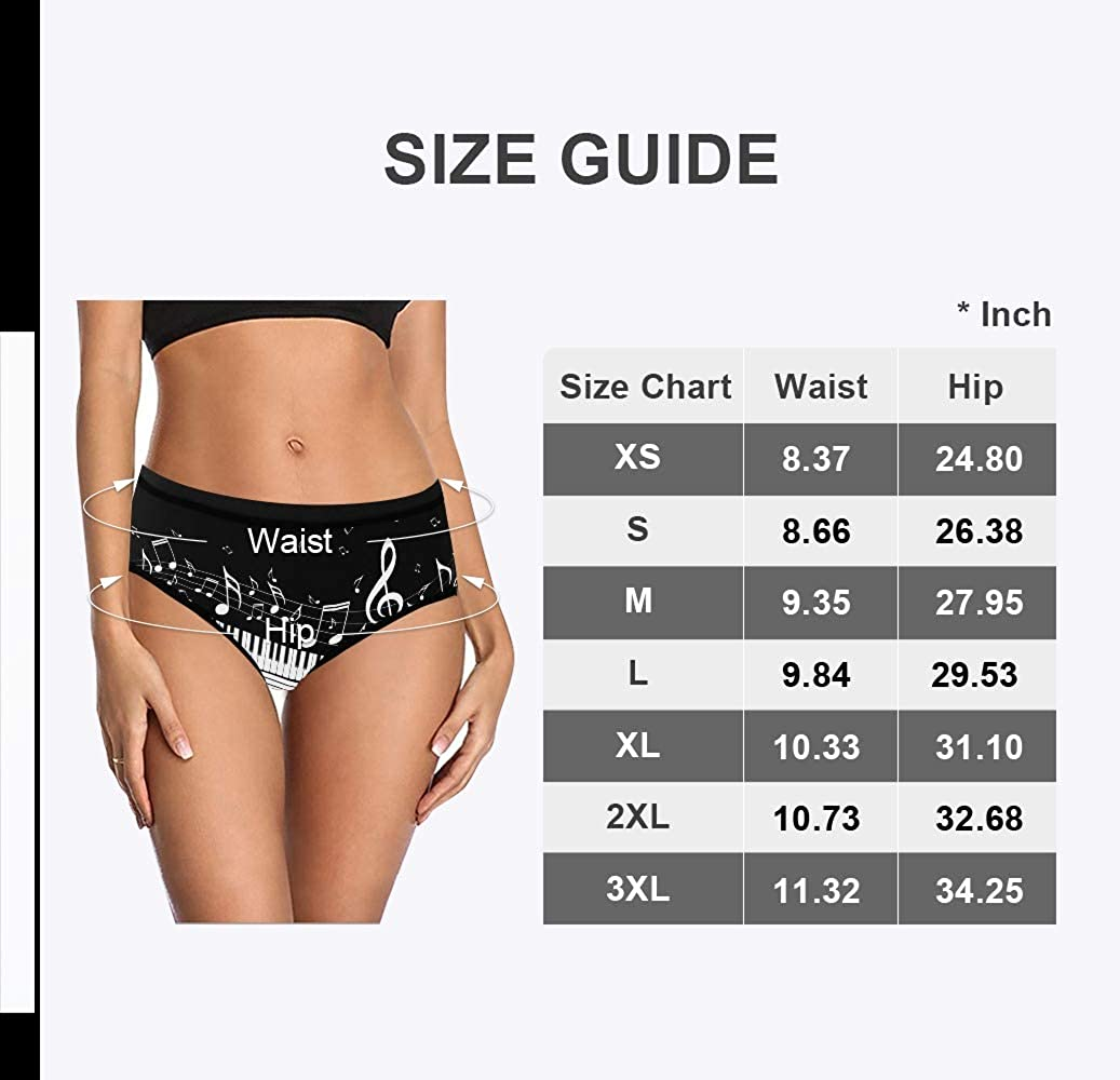 XS-XXL Custom Funny Womens Underwear Personalized Your Name Text Butterfly Hot Air Balloon High-Cut Brief Panty