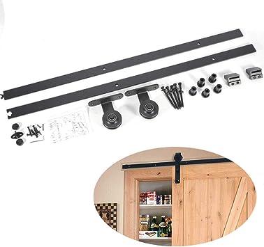 Juego de raíles para puertas correderas, sistema de herraje para puertas correderas: Amazon.es: Bricolaje y herramientas