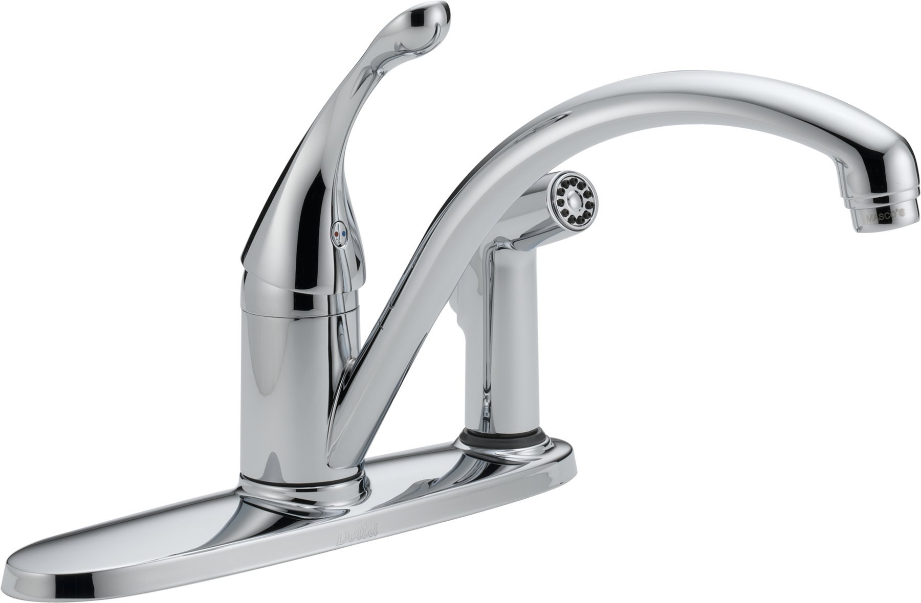 Delta 340-WE-DST Collins Single Handle Water-Efficient Kitchen Faucet with Integral Spray, Chrome by DELTA FAUCET
