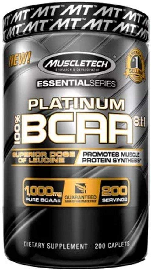 Bcaa Platinum (200 tabs), Muscle Tech por Muscle Tech