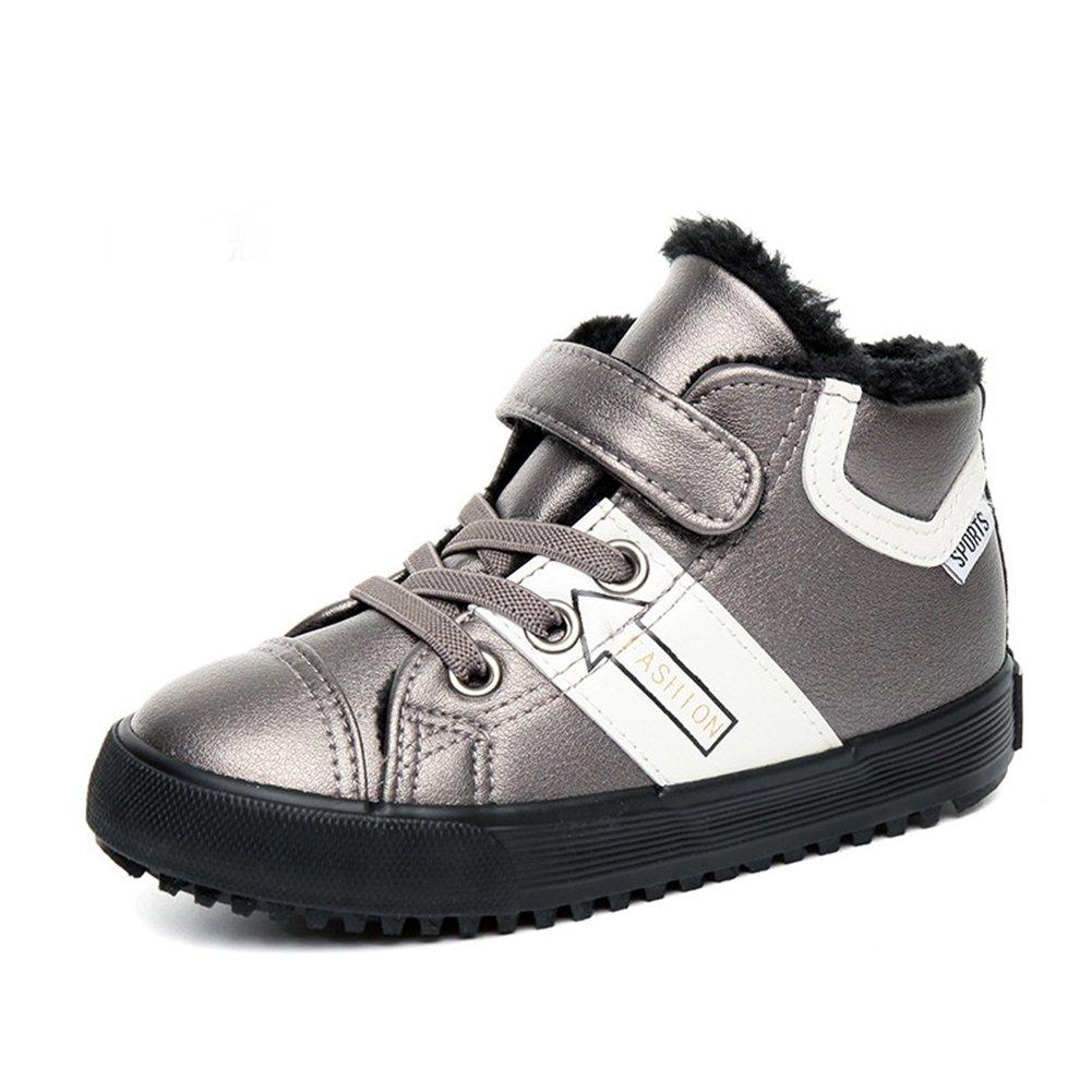 U-MAC Anti-slip Boys and Girls Sneakers Mid Velcro Warm Casual Walking Shoes(Toddler/Little Kid/Big Kid)