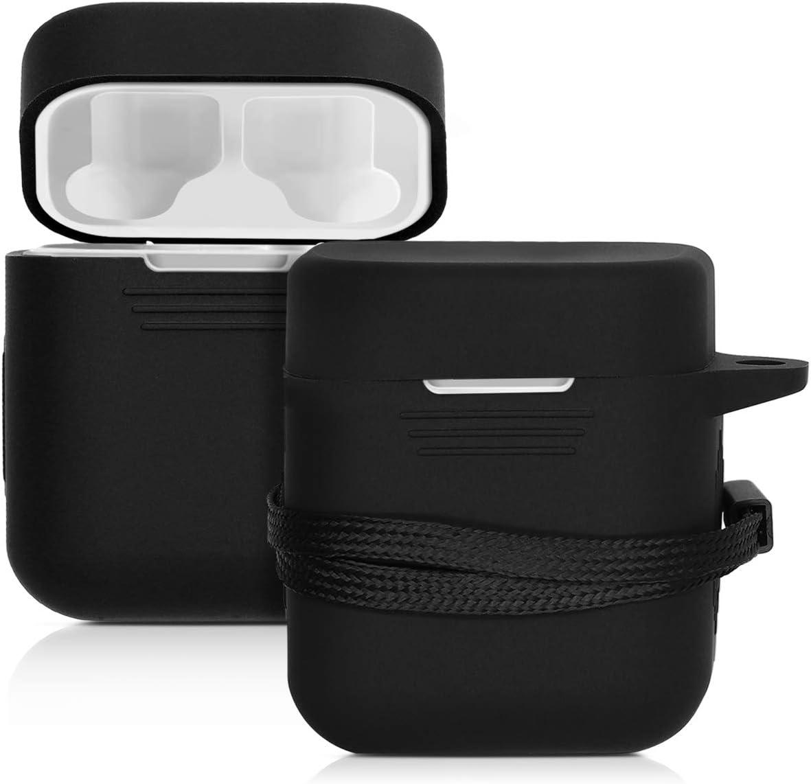 kwmobile Funda de Silicona Compatible con Xiaomi AirDots Pro - Carcasa para Auriculares en Negro