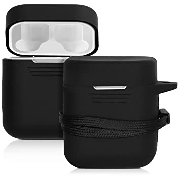 kwmobile Funda de Silicona para Xiaomi AirDots Pro Funda Protectora para Auriculares Estuche en Negro